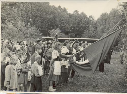 rozorávání mezí 1950